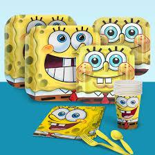 spongebob squarepants birthday party supplies theme party packs