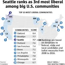 Seattle Neighborhood Map Do You Live In Seattle U0027s Most Liberal Or Conservative Neighborhood