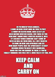 Keep Clam Meme - keep calm and carry on red meme imgflip