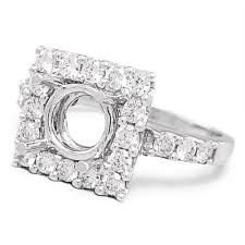 round setting rings images Round diamond square semi mount engagement ring setting 18k once jpg
