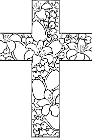 free printable cross coloring pages cross coloring pages with