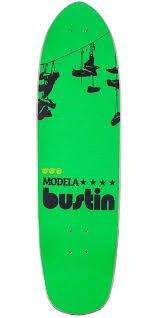 bustin modela modela 33 longboard skateboard complete statue green