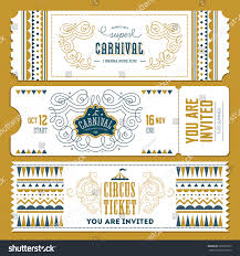 sports ticket invitation vintage circus banner collection ticket invitation stock vector