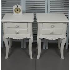 Chabby Chic Bedroom Furniture Pair Of White 2 Drawer Bedside Tables Shabby Chic Bedroom Furniture