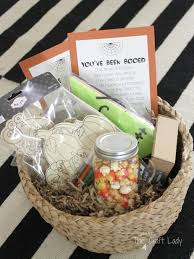 Gift Baskets For Halloween by Family Craft Night Themed Boo Basket The Crazy Craft Lady