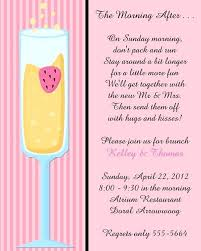 morning after wedding brunch invitations post wedding brunch invitations and mimosa after wedding