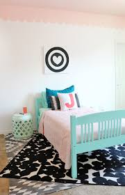 Girls Room Sweet And Modern Girls Room Makeover With Diy Scalloped Wall