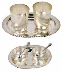 dinner gifts gifts vale german silver 2 bowl and 2 glass dinner set at rs 550