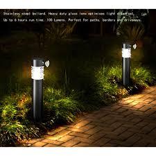 V Landscape Lights - solar power led stainless steel landscape pathway lights with pir