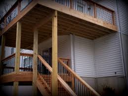 2 Story Home Design App by Balcony Decks Elevated Without Stairs By Archadeck St Plus Wood