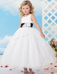 childrens wedding dresses 2015 free shipping white flower dress gown anklelength