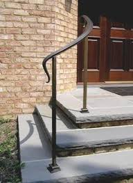 Outside Banister Railings Wrought Iron Railing On Natural Stone Steps U2026 Pinteres U2026