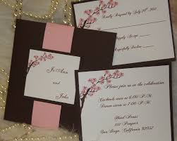 Photo Card Wedding Invitations Cherry Blossom Invitation Maybe I Could Paint On The Canvas