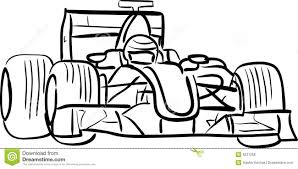 f1 car outlined royalty free stock photos image 9221258