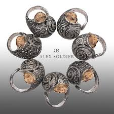 Handmade In Nyc - alex soldier gold silver codi the snail ring ltd ed