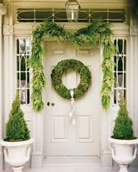 Christmas Decorations For Outside Door by Christmas Decorating Ideas Martha Stewart