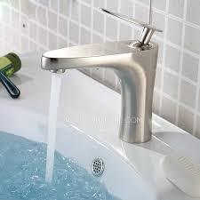 brushed nickel copper single handle bathroom sink faucet