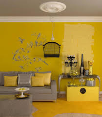 living room retro sofas with bright yellow living room with