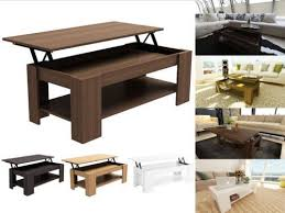 Flip Up Coffee Table Caspian Modern Lift Up Top Coffee Table With Storage Espresso