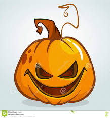 illustration of a scary halloween pumpkin jack o lantern head with