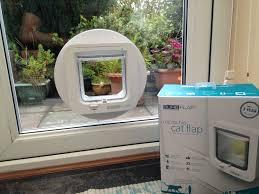 catflap in glass door sureflap microchip cat flap ask ben handyman