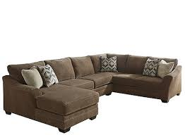 Chenille Sectional Sofas by Ormond 3 Pc Chenille Sectional Sofa With Laf Chaise Sofas