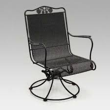 Wrought Iron Swivel Patio Chairs by Amazon Com Woodard Briarwood High Back Swivel Rocker Patio
