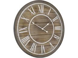 bleached wood wall clock panelled wood wall clock libra hemsby