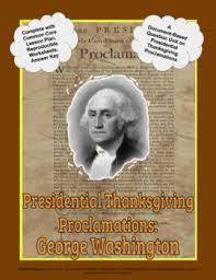 presidential thanksgiving proclamation washington dbq unit pptx