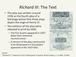 richard iii in production final