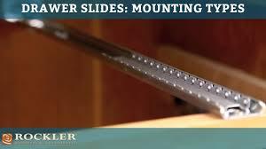 drawer slide tutorial mounting types youtube