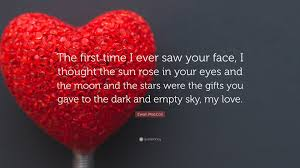 Love And Stars Quotes by Ewan Maccoll Quote U201cthe First Time I Ever Saw Your Face I