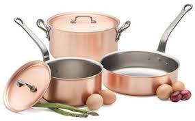 ustensiles de cuisine en cuivre materiaux ustensiles cuisine française
