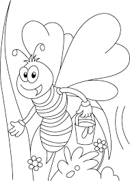 honey bee tweet coloring pages download free