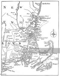 vintage map of new england stock illustration getty images