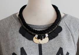 diy necklace with rope images Diy jeweled holiday rope necklace a pair a spare jpg
