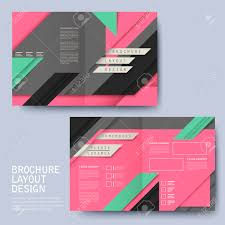 modern geometric style half fold template for business advertising