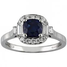 sapphire rings vintage images Sapphire engagement rings vintage sapphire and diamond rings jpg
