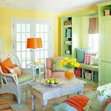 alluring design of living room wall color with canary yellow