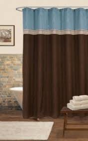 Green And Brown Shower Curtains Blue Brown Shower Curtain Foter