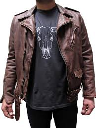 Cowhide Leather Vest Schott Vintaged Fitted Men U0027s Cowhide Leather Motorcycle Jacket