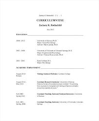 Academic Resume Researcher Resume Sample Academic Resume Template 7 Academic