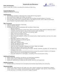 Resume Templates For Nursing Jobs Restorative Nurse Sample Resume Cocktail Server Resume Sample