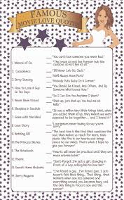 famous movie love quotes bridal shower game bridal shower games
