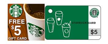 5 gift card wow free 5 starbucks gift card for rewards members free to join