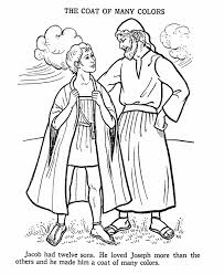 joseph coat colours bible story colouring
