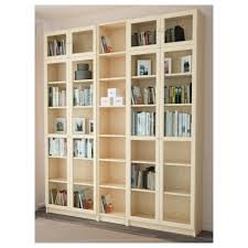 Bookcase With Doors Billy Oxberg Bookcase White 78 3 4x93 1 4x11 3 4