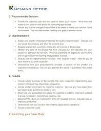 business case study analysis outline