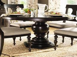 round dark wood pedestal dining table ingenious design ideas dark wood round dining table glass with