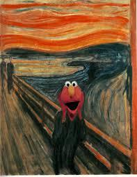elmo painting elmo scream by senatormattlock on deviantart